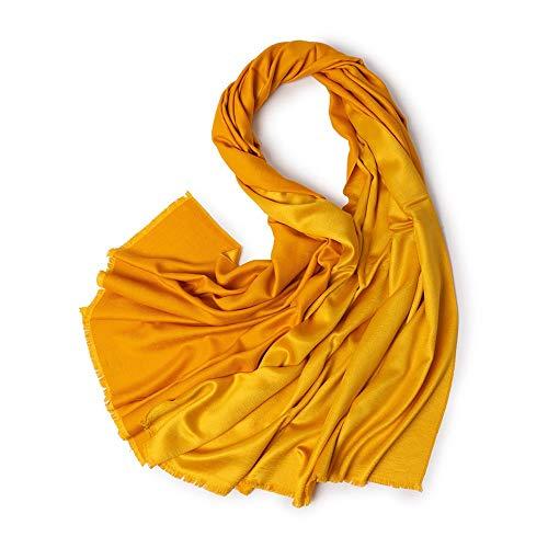 Easy Go Shopping New Damen Schal Seidige Doppel Metall Satin Warmer Schal Schal Weiche Wild Farbe Lätzchen (Farbe : Gold, Größe : Einheitsgröße)