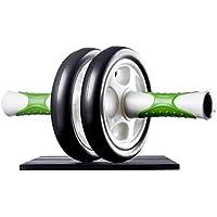 Ultrasport Aparato de abdominales AB Roller / AB Trainer con esterilla para las rodillas, entrenamiento de abdomen para hombres y mujeres, rodillo de abdominales, aparato de musculación plegable