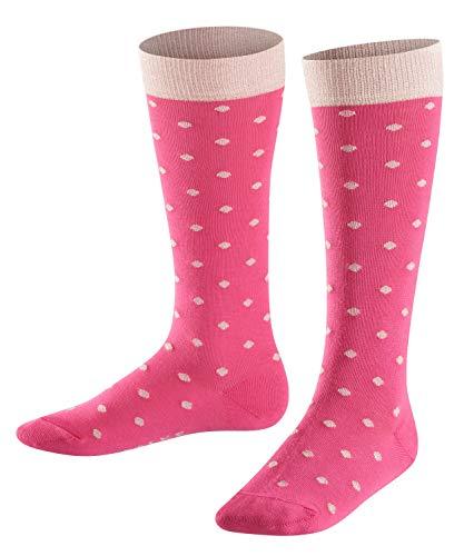 FALKE Mädchen Glitter Dot, Punkte-Muster, hautfreundliche Baumwolle, 1 Paar Kniestrümpfe, blickdicht, Gloss, 27-30 -