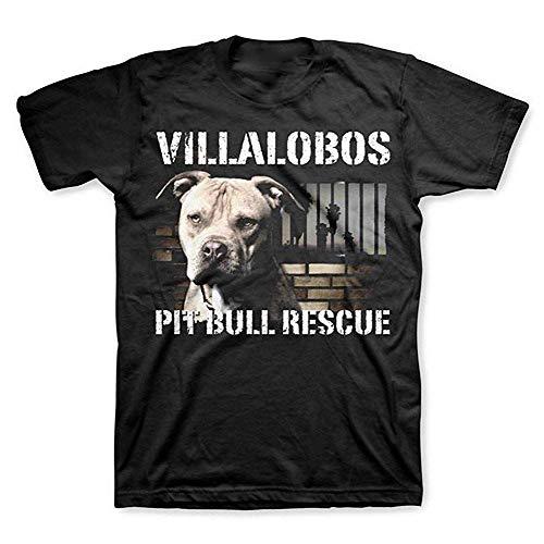 KAYLRR Fashion Oberteile Pit Bulls & Parolees Unisex Villalobos Rettungszentrum Pit Bull Rescue T-Shirt Bedruckte Herren Casual Kurzarm Rundhals Grafik T-Shirts S