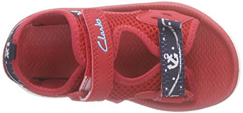 Clarks Kids Piranhaboy Fst, Chaussures Bébé marche mixte bébé Rouge (Red Synthetic)