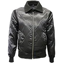 Chaqueta de satén para hombre RYAN GOSLING color negro con escorpión plateado, estilo muy casual , moda ciudad, super moderna (L)