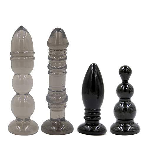 Dilatador Anales Plug Beads Erfreuliche Spielzeuge XL für Mann Frau (Farbe: Lila) (Farbe : SCHWARZ)