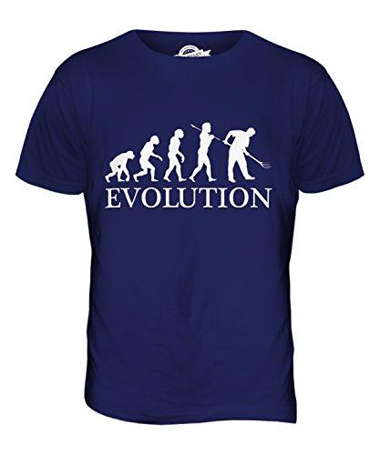 CandyMix Gärtner Gartenarbeit Evolution Des Menschen Herren T Shirt Navy Blau