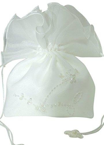 hochzeits-shop-hamburg Brauthandtasche, Borsetta da polso donna Elfenbein(Ivory)