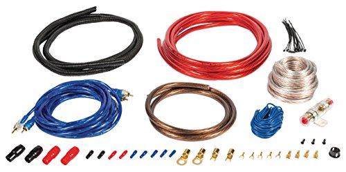 Eurosell - Premium 1200W Car Audio Anschlusskit M - Anlage Verstärker Auto KFZ Hifi Kabel Set Kit mit Remote Leitung Subwoofer (Pa-lautsprecher Car-audio)