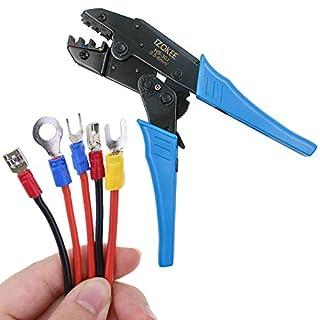 IZOKEE Kabelschuhzange Crimpzange mit Ratschenfunktion HS-30J für Isolierte Kabelschuhe 0,5-6mm² AWG 20-10