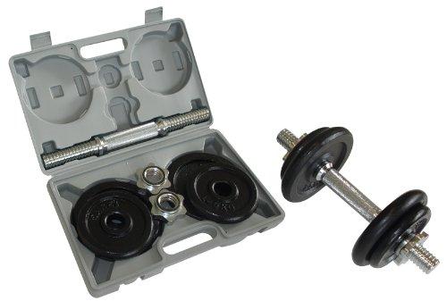 Schildkröt Fitness 960012 - Juego de 2 mancuernas ajustable de 10kg/u en maletin