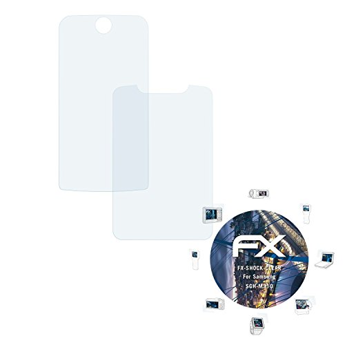 Samsung SGH-M310 Folie - 3er Set atFoliX FX-Shock-Clear stoßabsorbierende ultraklare Panzerfolie Displayschutzfolie