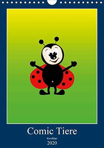 Kuschlige Comic Tiere (Wandkalender 2020 DIN A4 hoch)