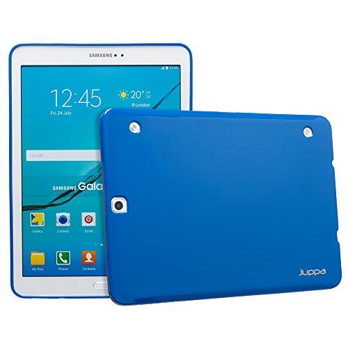 Galaxy Lcd-samsung S2 (Juppa® Samsung Galaxy Tab S2 9,7 Zoll SM-T810 T815 TPU Silikon Tasche Hülle Schutzhülle mit LCD displayschutzfolie und Mikro-Reinigungstuch - Blau / Blue)