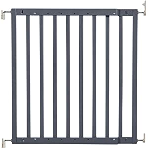 Badabulle Color Pop Safety Gate Grey PERFETSELL 【Package Included】: Package included total 4 pack threaded Spindle Rods .Size:diameter M10 (10mm), length 80mm ,fit for all pressure mounted baby gates or pet gates.4 pack threaded spindle rods replacement, bring your old gate back into use,save you from buying a new gate. 【High Quality】:Our threaded spindle rods with steel core screw & ABS plastic, durable and reusable.Solid material that won't crack with pressure, help to make the banister gate fit snug and sturdy, so as to ensure safety of the kids or pets. 【Protection & Stability】:Make your baby gates more stable and do not failing over. Great way to protect the wall or your stair banisters. Rubber ends to protect your staircase from being scratched.Work great as replacement wall grips for our gate.(Do not use it at the top of the stairs.) 10