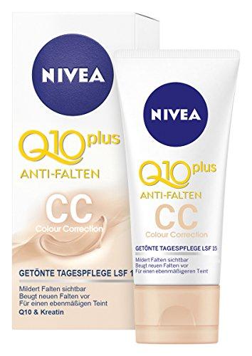 Nivea Q10 Plus Anti-Falten Getönte Tagespflege, 1er Pack (1 x 50 ml)