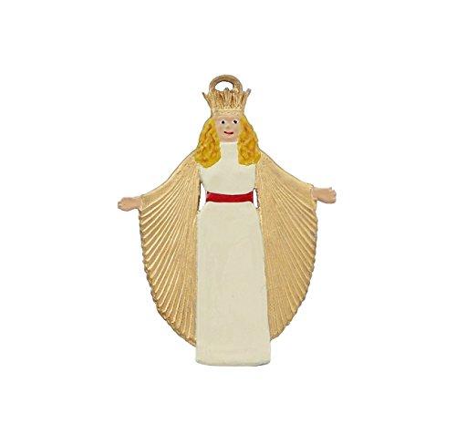 Christkind aus Zinn von Hand bemaltzum hängen, Christbaumschmuck, Baumbehang, weihnachtlicher Zierschmuck