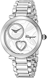 Salvatore Ferragamo Women's Analog Swiss-Quartz Watch with Stainless-Steel Strap FE207
