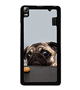 printtech Cute Dog Food Back Case Cover for Lenovo K3 Note