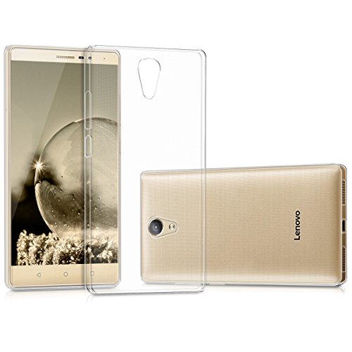 kwmobile Funda para Lenovo Phab2 - Carcasa Protectora de TPU para móvil - Cover Trasero en Transparente