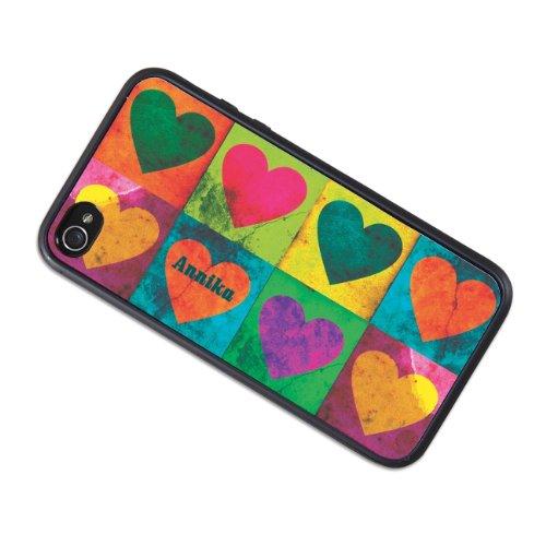 privatewear iPhone 4 (s) Schutzhülle mit Herzen und Name: Annika