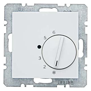Hager S.1-Plate 1Series Thermostat with Mechanism White Polar Brightness
