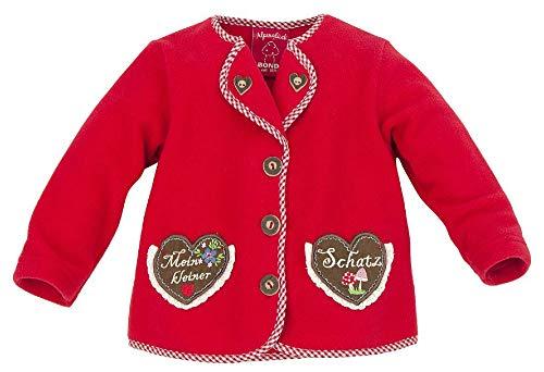 BONDI Fleecejacke ´Mein Kleiner Schatz´, Rot 68 Tracht Baby Mädchen Artikel-Nr.86013