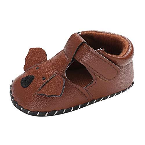 Babyschuhe cinnamou Sommer Sandale mit weichen Sterne Krippe Schuhe Baby Leder Lauflernschuhe Junge Mädchen Kleinkind 0-6 Monate 6-12 Monate 12-18 Monate (12~18 Monate, Braun-A) (Gladiator Kleinkinder Sandalen Für)