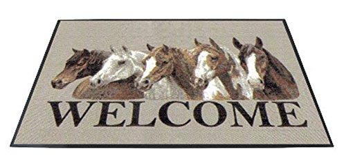 Fußmatte Welcome Pferde, Türvorleger, Türmatte, Fußabtreter
