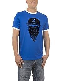 Touchlines Herren T-Shirt Ny Gangster Kontrast