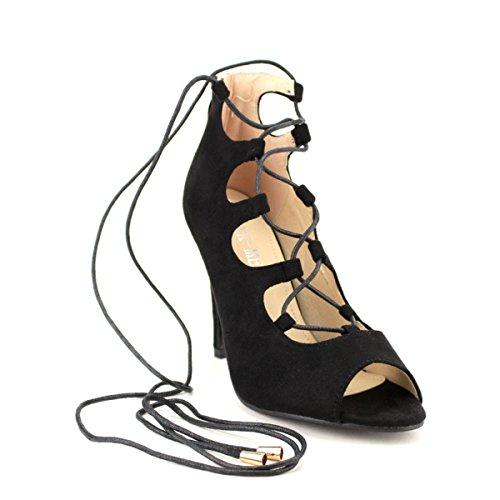 Tendenza Di Camoscio Loisna Donna Nero Sandalo Cendriyon Da Scarpe In qp8U0UO