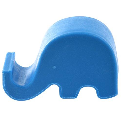 SODIAL(R) Sostenedor de mini elefante para telefono celular Soporte MP3 para iPhone 5/4S/Samsung Azul