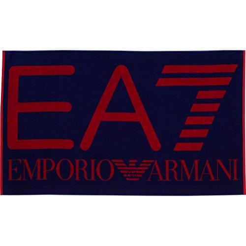 Preisvergleich Produktbild Emporio Armani EA7 Herren Strandtuch Duschtuch Badetuch Strandhandtuch logo blu