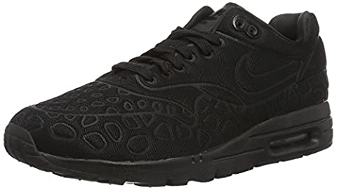 Nike w Air Max 1 Ultra Plush, Chaussures de Running Femme, Noir / Noir-Blanc, 40 1/2 EU