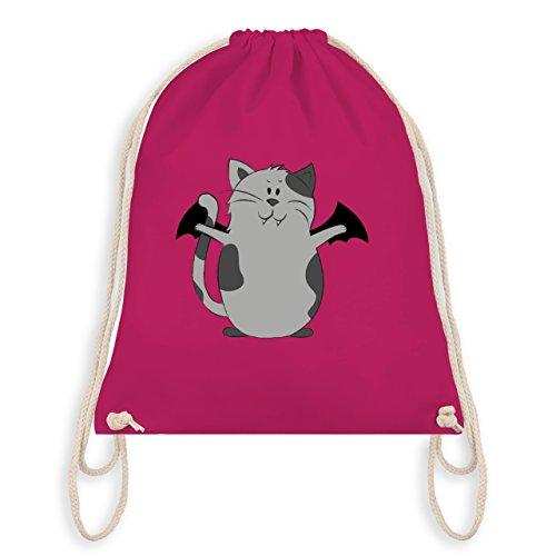 Halloween - Katze Halloween - Turnbeutel I Gym Bag Fuchsia