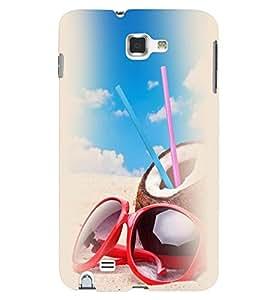 Printvisa Beach Enjoyment Stuff Back Case Cover for Samsung Galaxy Note 2::Samsung Galaxy Note 2 N7100