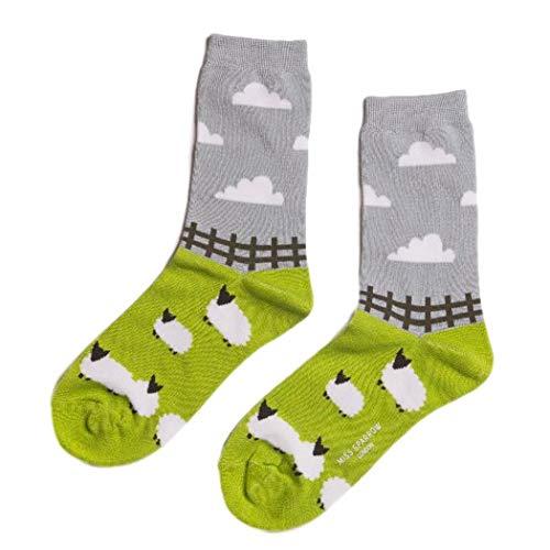 Purple Possum® Socken, Schaf, Blaugrün, Blau, Limettengrün, Grau, weiche Bambus-Baumwoll-Mischung Gr. One size, lindgrün -