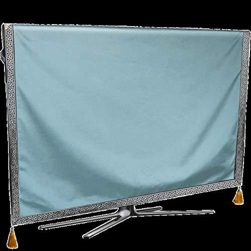 Preisvergleich Produktbild TV-Staubschutzhülle reines Wetter Staubschutz LCD Plasma TV Papierhandtuch Tischtuch Kissenhülle,  Blau,  49 Zoll