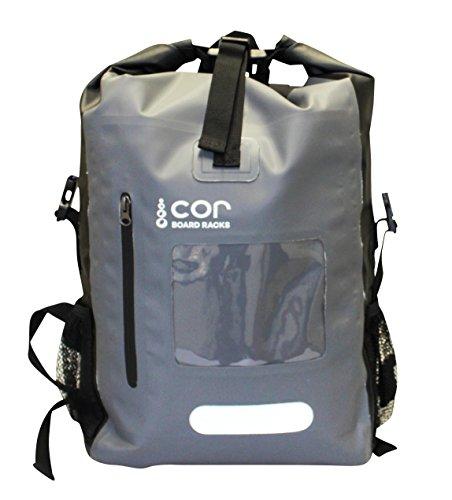 COR Surf Impermeabile Zaino 40L con tasca per PC portatile e protezione per apparecchiature elettroniche | Mantenere asciutto negli elementi Grigio
