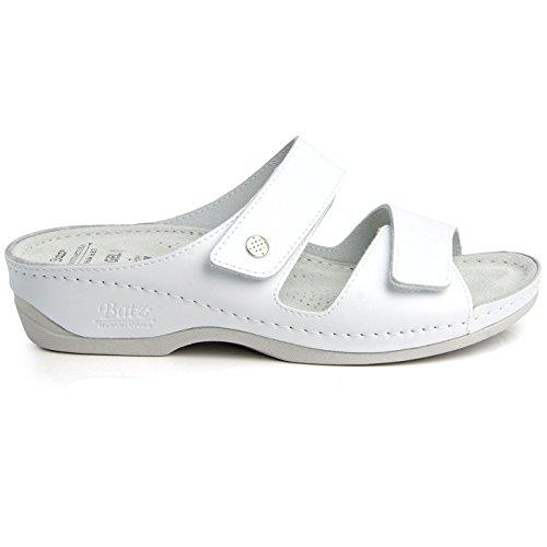 Batz Fc06 Scarpe Comfort Di Alta Qualità, Scarpe Di Cuoio, Mulo, Sandalo, Signore Bianco