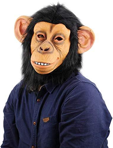 CC-mask Realistische Affen Masken Gorilla Halloween Masken Erwachsene Vollgesichtsmaske Lustige Latex Halloween Party Cosplay Kostüm (Realistische Gorilla Kostüm Für Erwachsene)