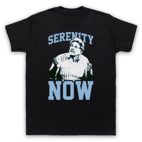 Seinfeld Frank Costanza Serenity Now Herren T-Shirt Schwarz