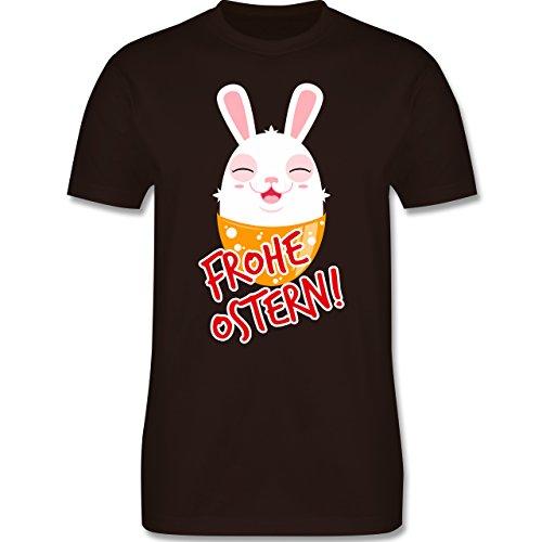 Ostern - Frohe Ostern - Osterhase - Herren Premium T-Shirt Braun
