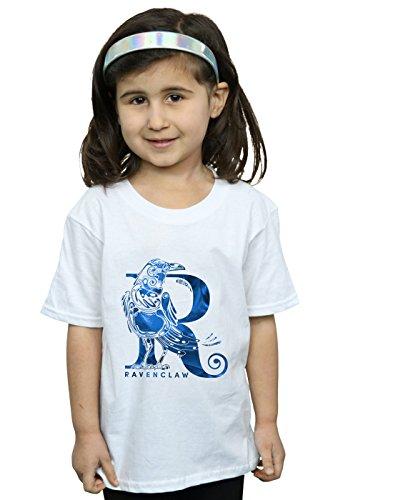 Harry Potter Mädchen Ravenclaw Raven T-Shirt Weiß 9-11 Years