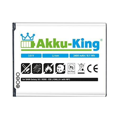 Akku-King Akku für Samsung Galaxy S3 GT-I9300, S3 i9301 Neo, S3 LTE...