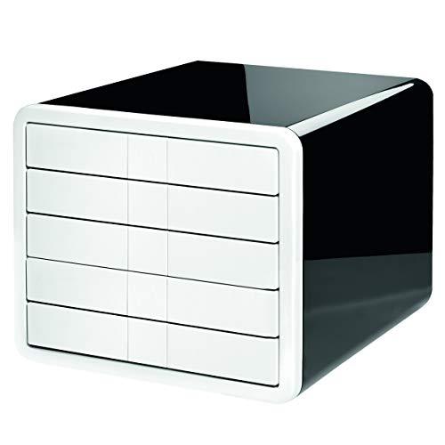HAN Schubladenbox i-Box 1551-33 in Schwarz-Weiß / Innovative & hochwertige Schreibtisch Box mit 5 Schubladen für Format A4–C4 / Für ein organisiertes, modernes Büro