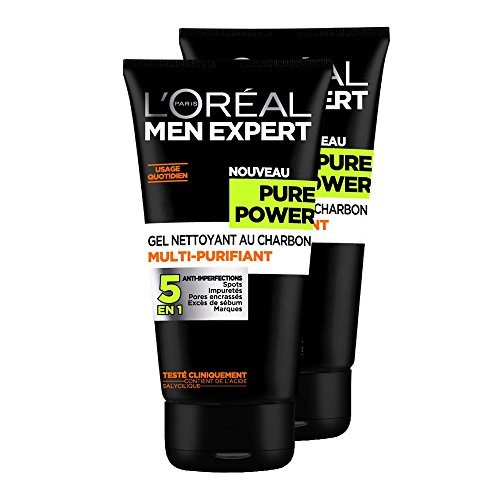 loral-men-expert-pure-power-gel-nettoyant-homme-5-en-1-anti-imperfections-lot-de-2x-150ml