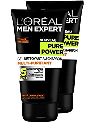 L'Oréal Men Expert Pure Power Gel Nettoyant Homme 5 en 1 Anti-imperfections - Lot de 2x 150ml