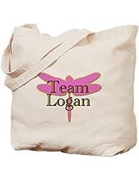 CafePress - Team Logan Gilmore Girls - Natural Canvas Tote Bag, Cloth Shopping Bag