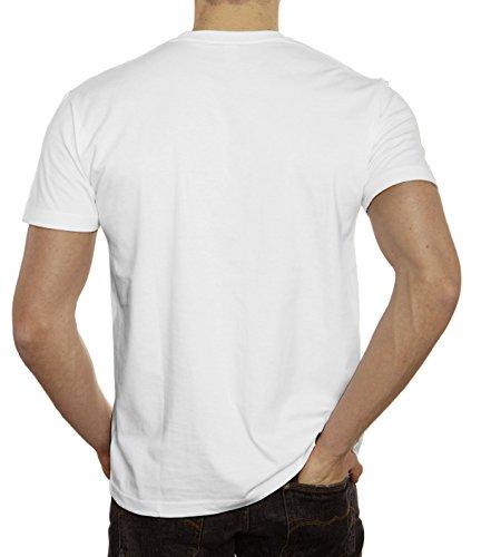 Einhorn Herren T-Shirt mit Team Unicorn Motiv von ShirtStreet Weiß