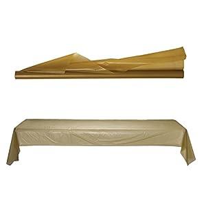 Amscan International Amscan 77021-19 - Mantel (plástico, 36 m), color dorado