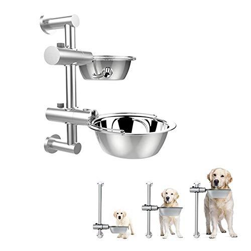 ACZZ Hebe-Hundenäpfe Edelstahl-Hundenäpfe Hund Katze Edelstahl-Feeder Höhenverstellbare Hundenäpfe -