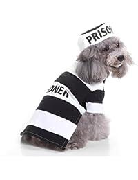 perros accesorios ropa Sannysis mascotas disfraces para perros trajes de Halloween (prisionero, S)